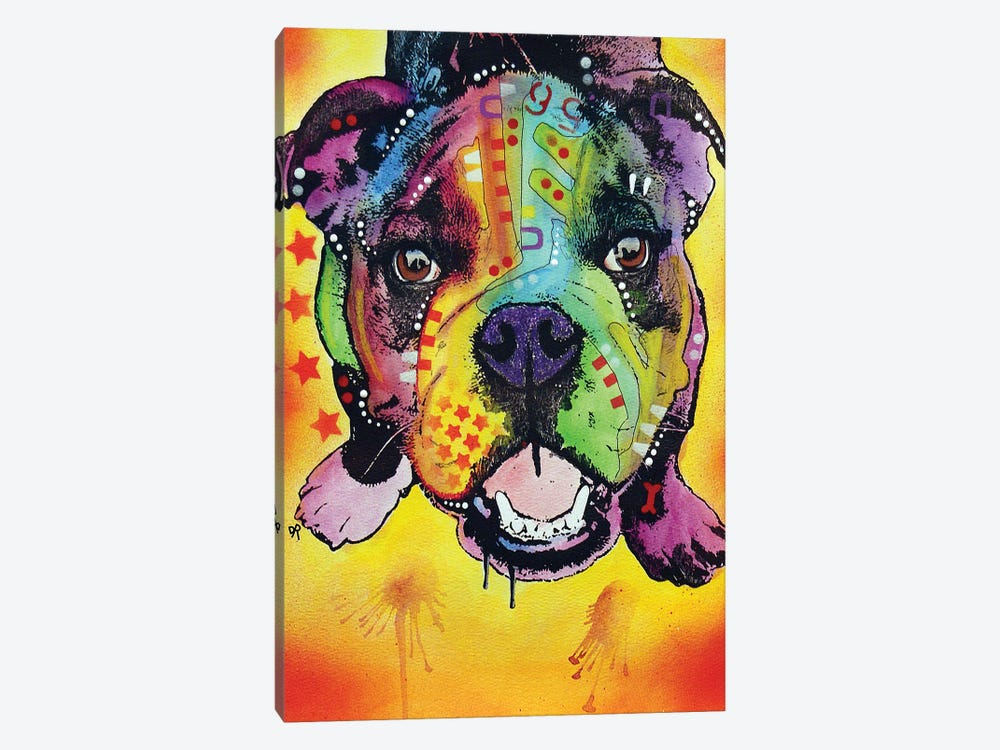 Baby Bulldog 1-piece Canvas Print
