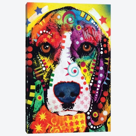 Beagle Face Canvas Print #DRO733} by Dean Russo Canvas Print