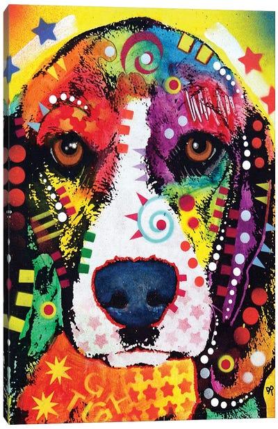 Beagle Face Canvas Art Print