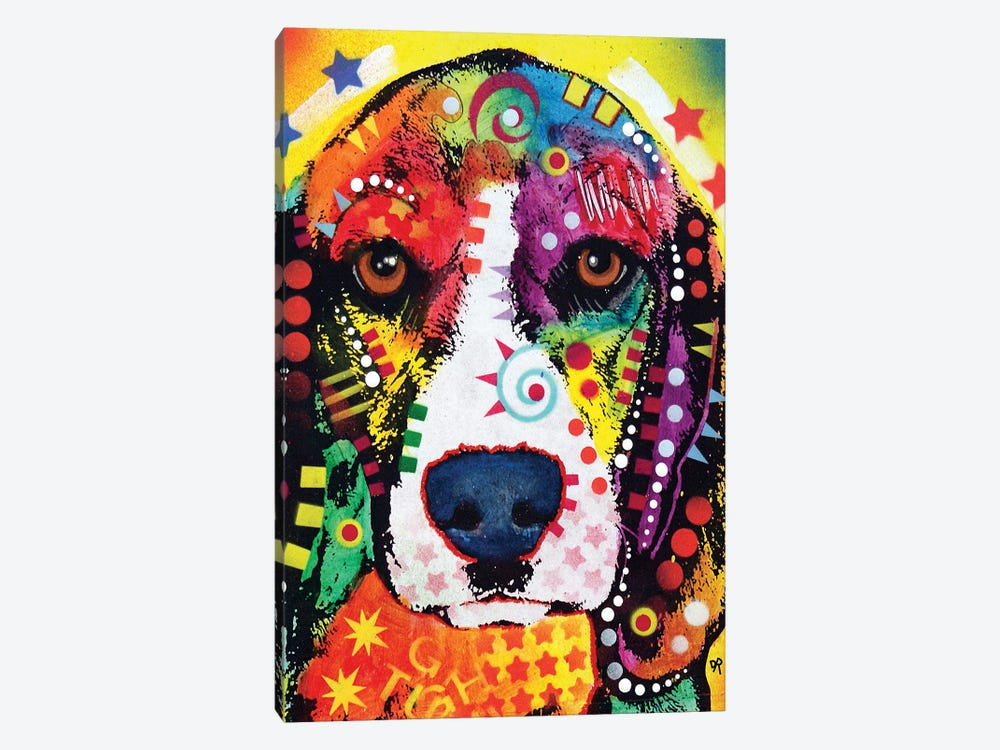 Beagle Face by Dean Russo 1-piece Canvas Wall Art