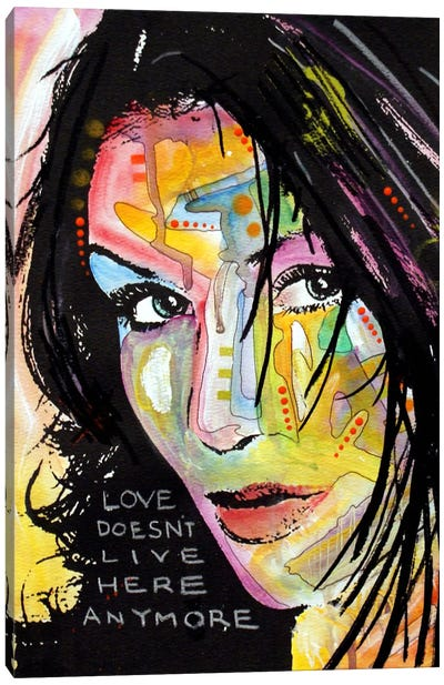 Love Doesn't Live Here Canvas Print #DRO76