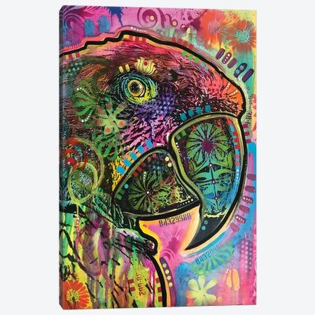 Close Up Parrot Canvas Print #DRO790} by Dean Russo Canvas Print