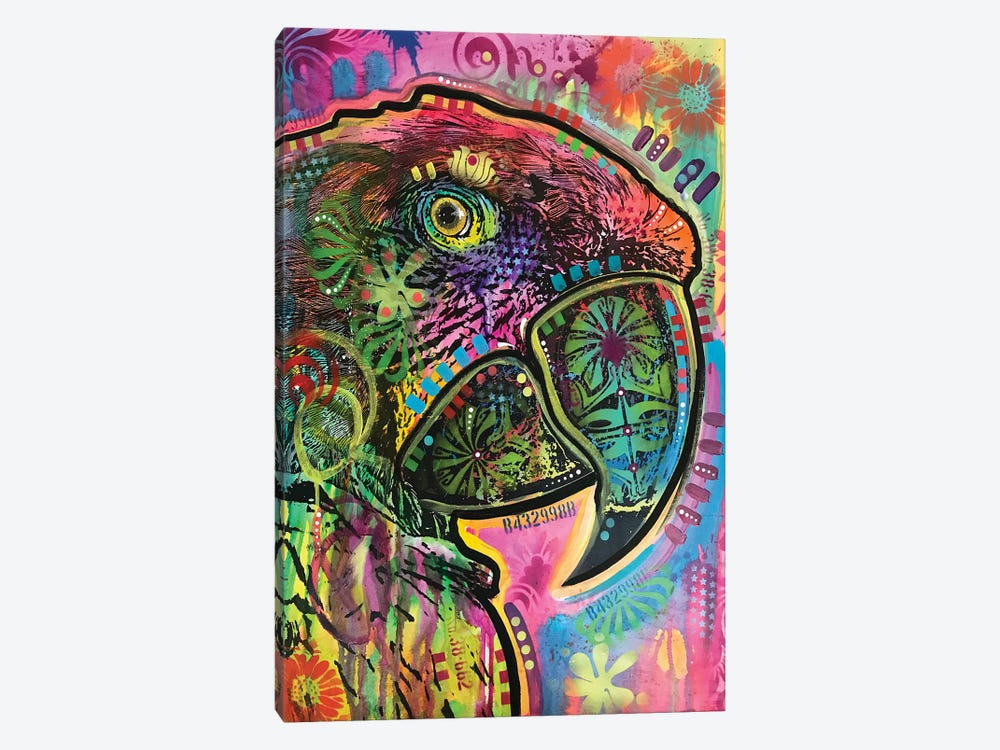 Close Up Parrot by Dean Russo 1-piece Canvas Art Print