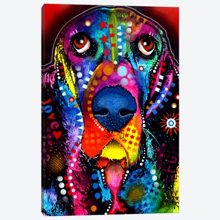 BASSET Canvas Print #DRO7} by Dean Russo Canvas Wall Art