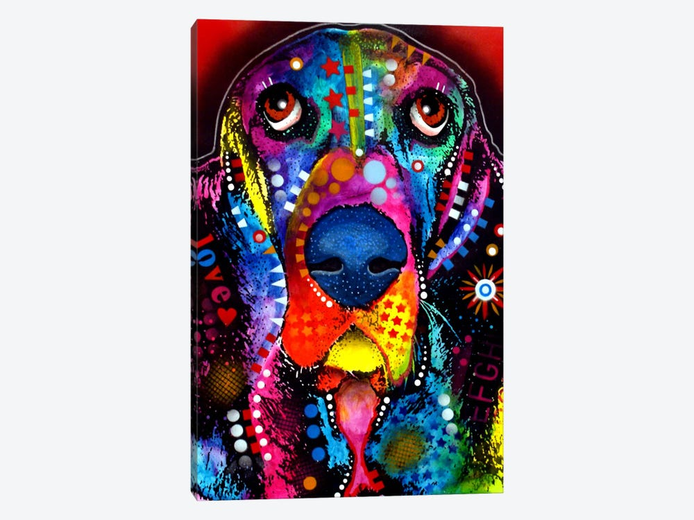 BASSET 1-piece Canvas Print