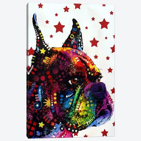 Profile Boxer Canvas Print #DRO82} by Dean Russo Canvas Artwork