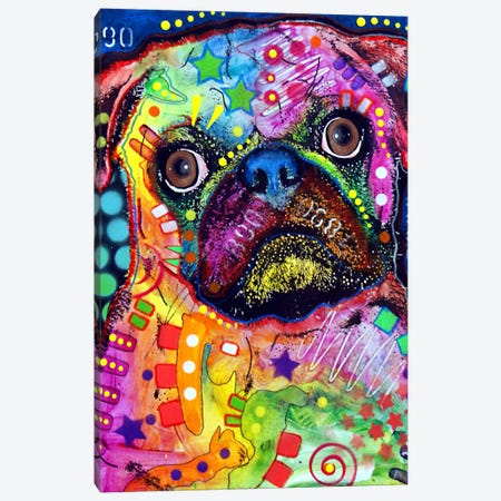 Pug 92309 Canvas Print #DRO83} by Dean Russo Canvas Art