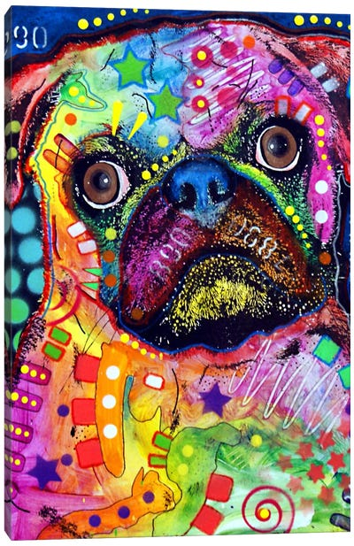 Pug 92309 by Dean Russo Canvas Art
