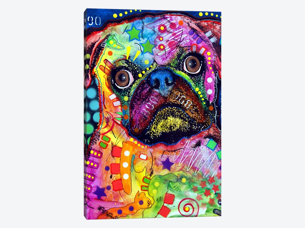 Pug 92309 by Dean Russo 1-piece Canvas Artwork