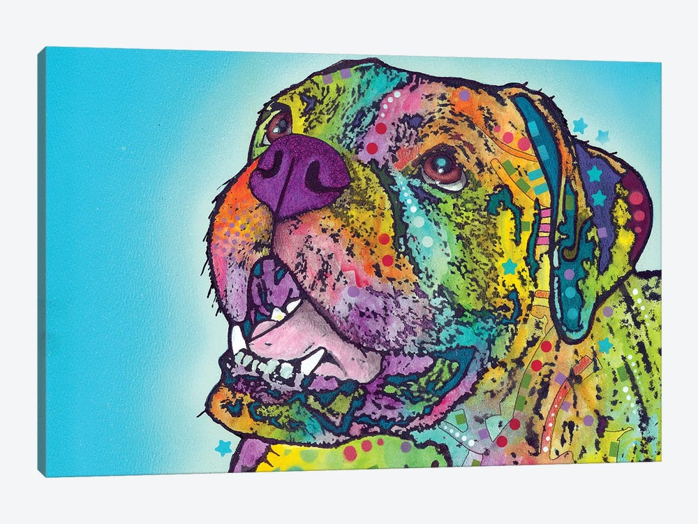 Smiling Boxer by Dean Russo 1-piece Art Print