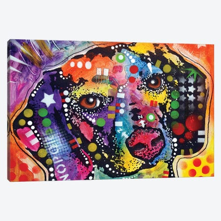 Spotted Beagle Canvas Print #DRO847} by Dean Russo Canvas Art