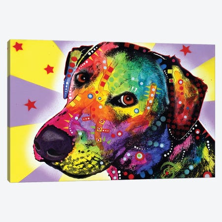 Yellow Sorta Lab Canvas Print #DRO857} by Dean Russo Art Print