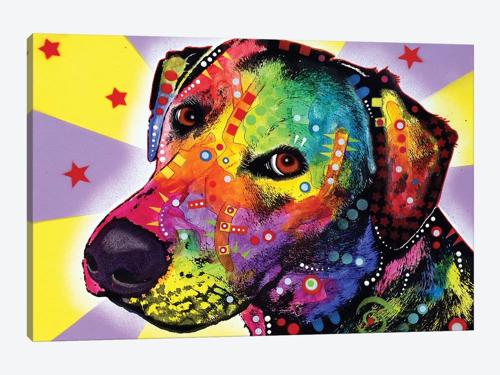 Yellow Sorta Lab by Dean Russo 1-piece Canvas Wall Art