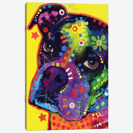 Young Boxer Canvas Print #DRO858} by Dean Russo Canvas Art