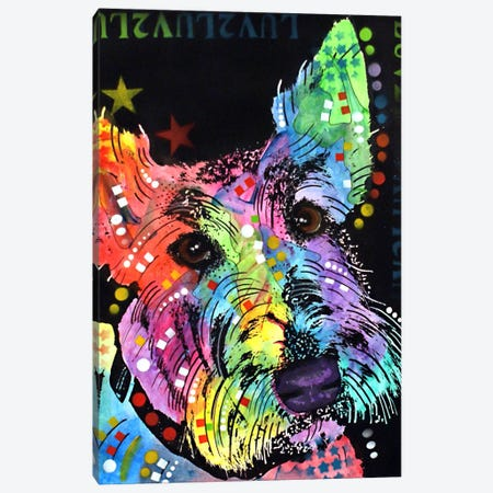 Scottish Terrier Canvas Print #DRO85} by Dean Russo Canvas Art Print