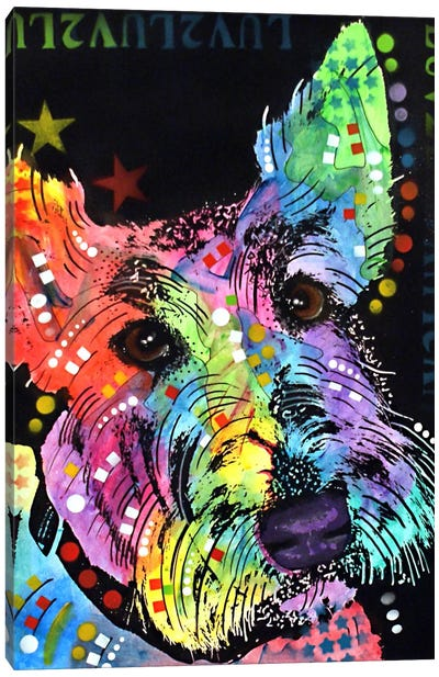Scottish Terrier Canvas Print #DRO85