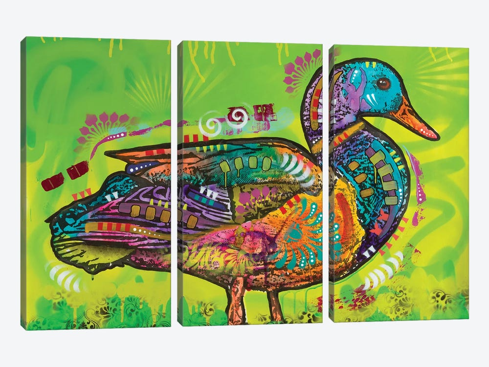 Electric Duck by Dean Russo 3-piece Canvas Wall Art