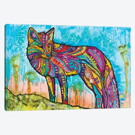 Electric Fox 3-Piece Canvas #DRO865} by Dean Russo Canvas Art