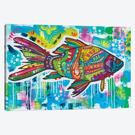 Electric Goldfish Canvas Print #DRO866} by Dean Russo Canvas Wall Art