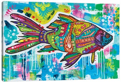 Electric Goldfish Canvas Art Print