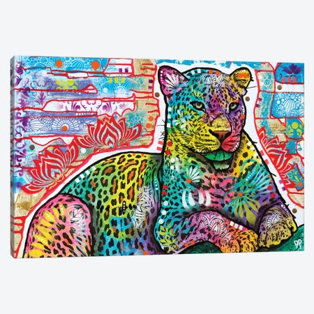 Electric Leopard Canvas Print #DRO867} by Dean Russo Canvas Wall Art