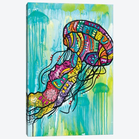 Jellyfish Canvas Print #DRO871} by Dean Russo Canvas Art