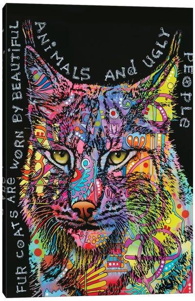 Psychedelic Bobcat Canvas Art Print