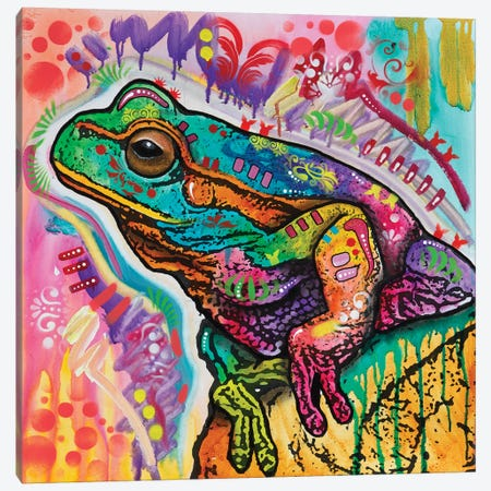Psychedelic Frog Canvas Print #DRO875} by Dean Russo Canvas Art Print