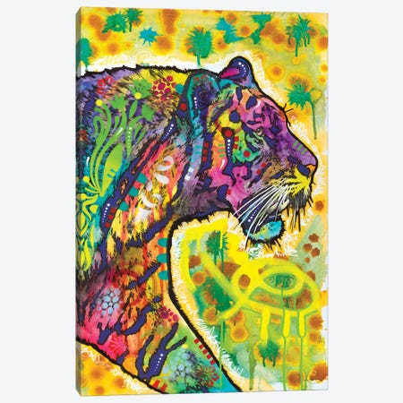 Psychedelic Tiger Canvas Print #DRO876} by Dean Russo Canvas Art Print