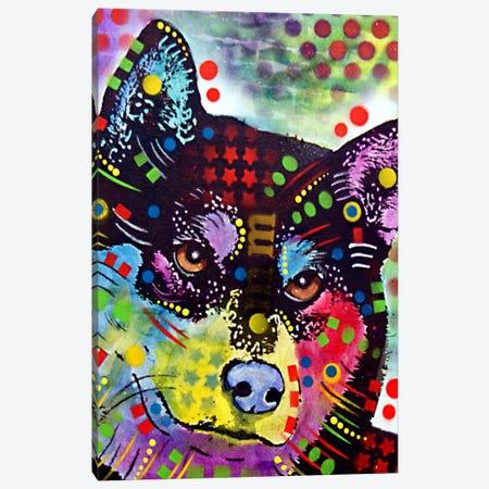 Shiba Inu Canvas Print #DRO87} by Dean Russo Canvas Art Print