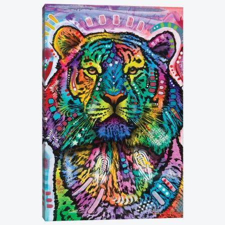 Curious Tiger Canvas Print #DRO880} by Dean Russo Canvas Art Print