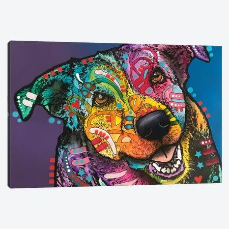 Ecstatic Dog Canvas Print #DRO883} by Dean Russo Canvas Art Print