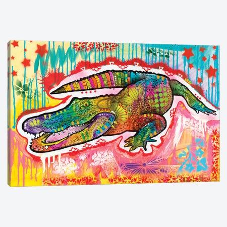 Alligator 2 Canvas Print #DRO892} by Dean Russo Canvas Wall Art