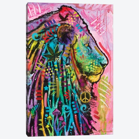 Syco-Delic Lion 3-Piece Canvas #DRO896} by Dean Russo Art Print