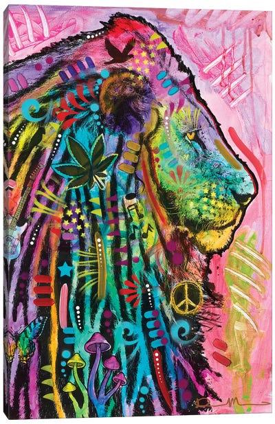Syco-Delic Lion Canvas Art Print