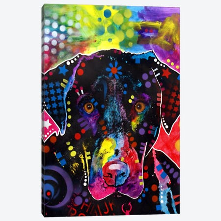 The Labrador Canvas Print #DRO89} by Dean Russo Canvas Art