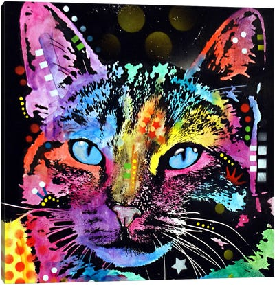 Thoughtful Cat Canvas Print #DRO90