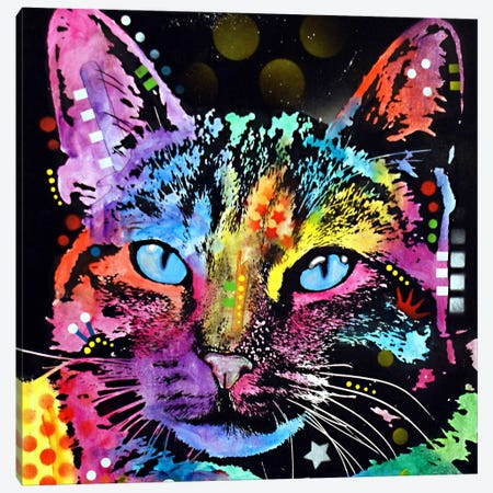 Thoughtful Cat Canvas Print #DRO90} by Dean Russo Canvas Art Print