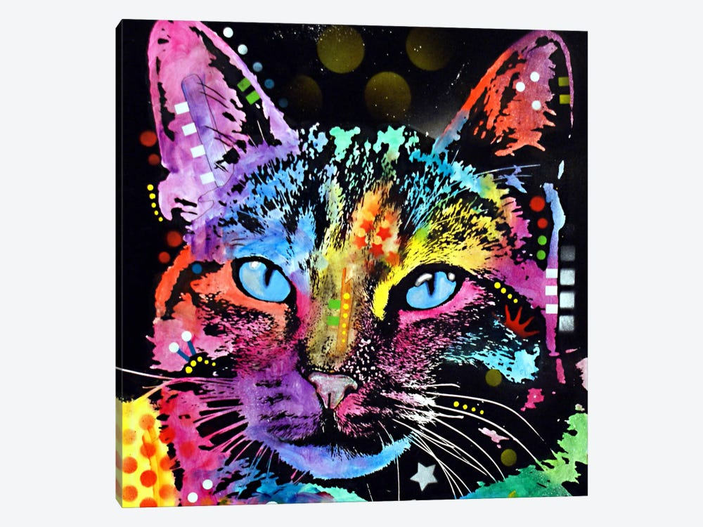 Thoughtful Cat by Dean Russo 1-piece Canvas Artwork