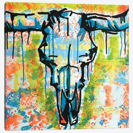Bull Skull Canvas Print #DRO911} by Dean Russo Art Print
