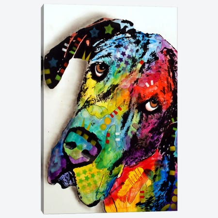 Tilted Dane Canvas Print #DRO91} by Dean Russo Canvas Print