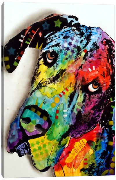 Tilted Dane Canvas Art Print