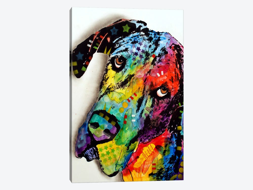 Tilted Dane by Dean Russo 1-piece Art Print