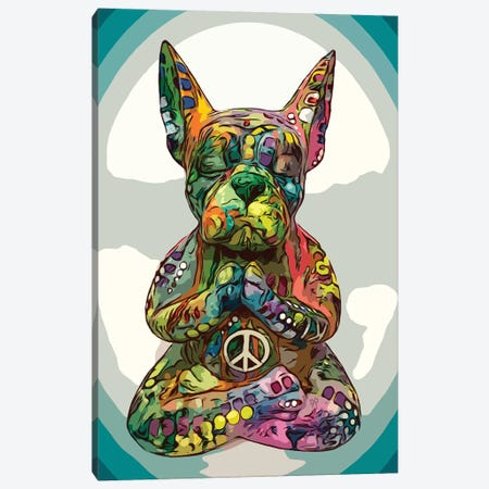 French Buddha Bulldog Canvas Print #DRO923} by Dean Russo Canvas Art