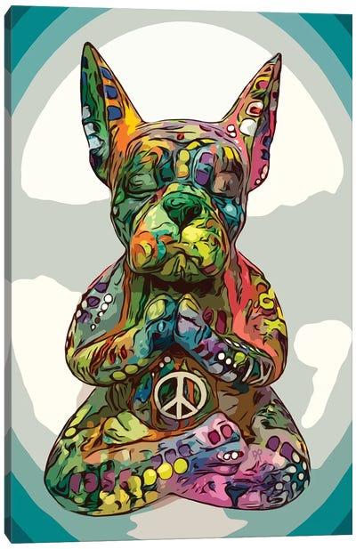 French Buddha Bulldog Canvas Art Print