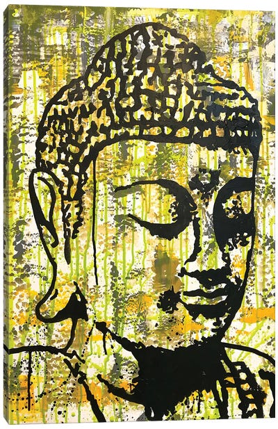 Buddha - Yellow Canvas Art Print