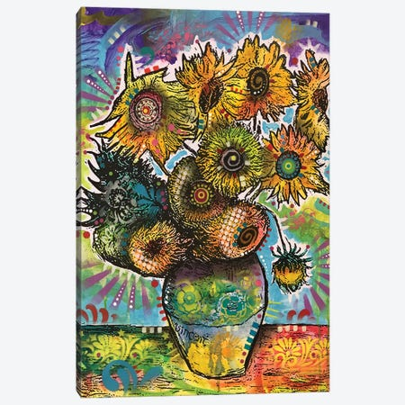 Sunflowers Canvas Print #DRO943} by Dean Russo Canvas Art