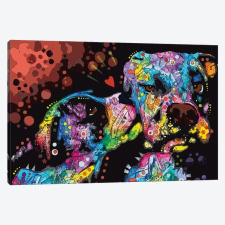It's Just Puppy Love Canvas Print #DRO950} by Dean Russo Canvas Print