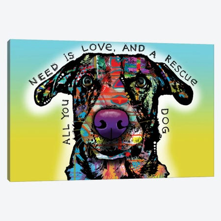 Love and Rescue Canvas Print #DRO955} by Dean Russo Canvas Art