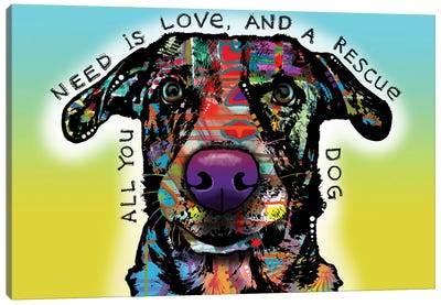 Love and Rescue Canvas Art Print